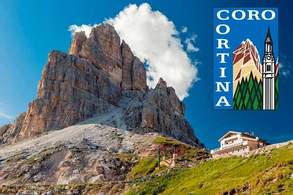"Chorkonzert des ""Coro Cortina"" Hütte Rifugio Averau - 5 Torri - Cortina d'Ampezzo"