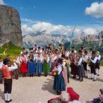 Concerto di Ra Bandes al Rifugio Averau in 5 Torri a Cortina d'Ampezzo