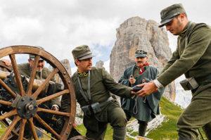Rievocazione storica al Rifugio Averau in 5 Torri a Cortina d'Ampezzo