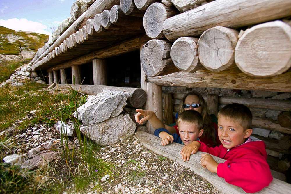 Museo all'Aperto della Grande Guerra al Rifugio Averau in 5 Torri a Cortina d'Ampezzo
