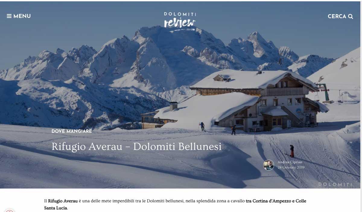 Rassegna Stampa - Dolomiti Review - Rifugio Averau - 5 Torri - Dolomiti - Cortina d'Ampezzo