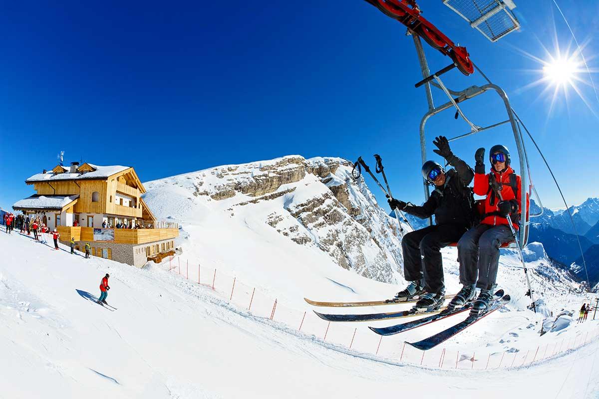 Hütte Rifugio Averau - 5 Torri - Dolomiten - Cortina d'Ampezzo - Winter