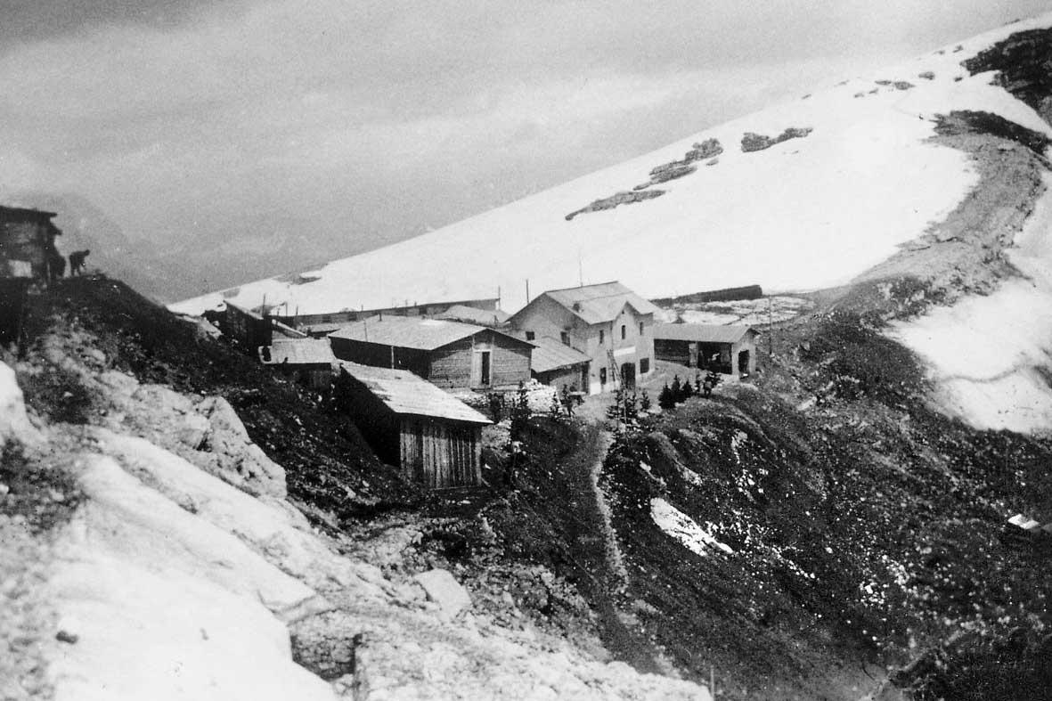 Ospedale da campo a forcella Nuvolau in 5 Torri a Cortina d'Ampezzo