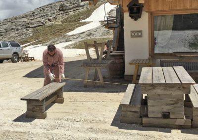 Migliorie esterne estate 2020 al Rifugio Averau in 5 Torri a Cortina d'Ampezzo