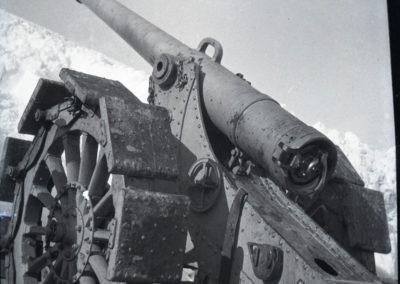 Artiglieria Prà Pontin - Grande Guerra Rifugio Averau - 5 Torri - Cortina d'Ampezzo © Collezione Francesco Quaglio