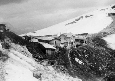 Campo militare in forcella Nuvolau - Grande Guerra al Rifugio Averau - 5 Torri - Cortina d'Ampezzo © Collezione Paolo Giacomel