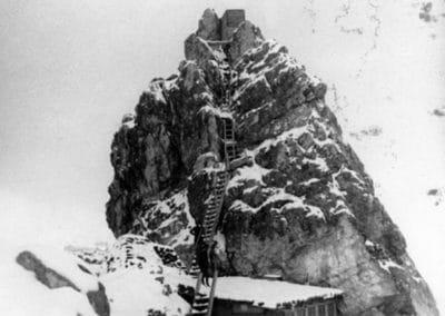 Postazione e osservatorio cima Averau - Grande Guerra Rifugio Averau - 5 Torri - Cortina d'Ampezzo © Collezione Museo Storico 7° Reggimento Alpini
