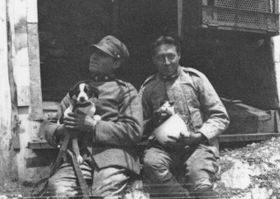 Gatti in trincea - Grande Guerra al Rifugio Averau - 5 Torri - Cortina d'Ampezzo © Collezione Paolo Giacomel